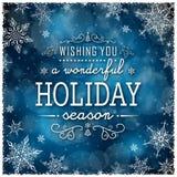 Struttura di inverno di Natale - illustrazione Natale blu scuro - quadrato della cornice di testo Immagini Stock Libere da Diritti