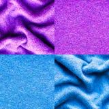 Struttura di lana blu del panno Immagini Stock Libere da Diritti