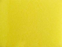Struttura di lavaggio gialla della spugna Fotografia Stock