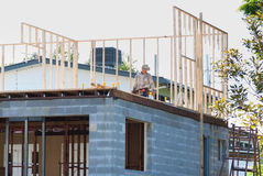 Struttura di legname della costruzione Fotografia Stock