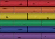 Struttura di legno - arcobaleno Immagini Stock Libere da Diritti