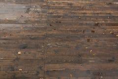 Struttura di legno bagnata del pavimento Fotografia Stock