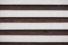 Struttura di legno in bianco e nero bordo a strisce del fondo Immagine Stock Libera da Diritti
