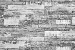 Struttura di legno in bianco e nero del pavimento, struttura del pavimento di legno duro immagine stock