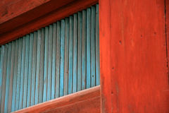Struttura di legno blu Fotografia Stock