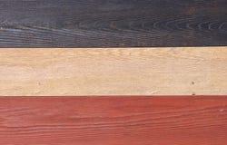 Struttura di legno, blu, bianco e fondo di legno rosso, parete variopinta della tavola di legno Fotografie Stock Libere da Diritti