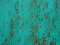 Struttura di legno blu-chiaro con le bucce della pittura Dipinga la sbucciatura Immagini Stock Libere da Diritti