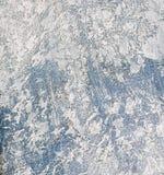 Struttura di legno blu e bianca con i graffi e le crepe Fotografia Stock