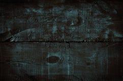 Struttura di legno blu scuro, vista superiore della tavola di legno Fondo rustico colorato della parete, struttura di vecchio tav fotografia stock