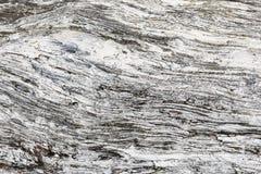 Struttura di legno Bordo grigio del legname con le linee stagionate della crepa Sfondo naturale per progettazione elegante misera Fotografia Stock