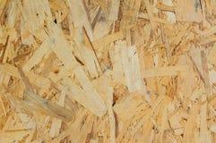Struttura di legno Bordo di legno di Osb per la decorazione del fondo Fotografie Stock Libere da Diritti