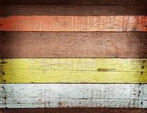 Struttura di legno colorata Immagine Stock