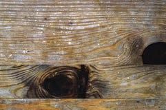 Struttura di legno con due nodi scuri Immagine Stock