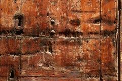 Struttura di legno con la serratura Immagini Stock Libere da Diritti