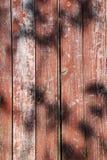 Struttura di legno con le ombre Fotografia Stock Libera da Diritti