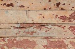 Struttura di legno con pittura Fotografie Stock Libere da Diritti