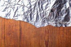 Struttura di legno con stagnola Fotografie Stock Libere da Diritti