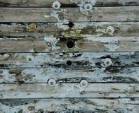 Struttura di legno con Teal Accents Fotografia Stock Libera da Diritti