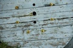 Struttura di legno con Teal Accents Fotografia Stock
