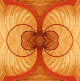Struttura di legno decorata operata Immagini Stock Libere da Diritti