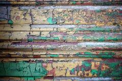 Struttura di legno decorativa di Grunge con la vernice della sbucciatura Immagini Stock Libere da Diritti