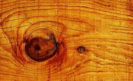 Struttura di legno del fondo del grano con il nodo Fotografia Stock