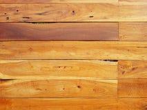 Struttura di legno del fondo di Brown con le linee orizzontali Fotografia Stock Libera da Diritti