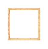 Struttura di legno del pallet isolata su bianco Fotografie Stock