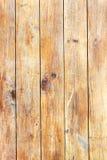 Struttura di legno del pavimento della plancia di vecchio giallo di lerciume con il picchiettio naturale fotografie stock