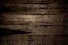 Struttura di legno del tavolato della parete del granaio orizzontale Vecchio legno ripreso fotografia stock
