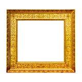 Struttura di legno del vecchio oro isolata su bianco Fotografia Stock Libera da Diritti