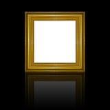 Struttura di legno dell'oro della cornice Illustrazione di Stock