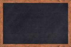 Struttura di legno della lavagna con la superficie del nero Immagini Stock Libere da Diritti