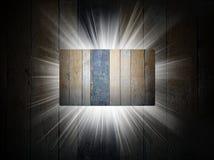 Struttura di legno della presentazione del biglietto da visita 3d Fotografia Stock Libera da Diritti