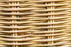 Struttura di legno di rattan Fotografie Stock Libere da Diritti