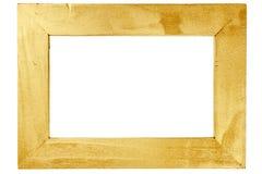 Struttura di legno dipinta con oro Immagini Stock Libere da Diritti