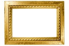 Struttura di legno dipinta con oro Fotografia Stock