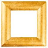 Struttura di legno dipinta con oro Fotografie Stock Libere da Diritti