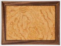 Struttura di legno dorata Fotografia Stock