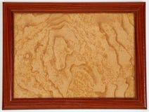 Struttura di legno dorata Immagini Stock