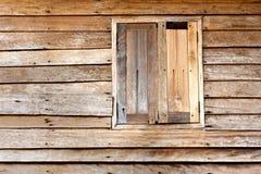 Struttura di legno e della finestra Immagini Stock Libere da Diritti