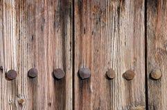 Struttura di legno esposta all'aria della rete fissa fotografia stock libera da diritti