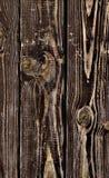 Struttura di legno, fondo della plancia, fine a strisce dello scrittorio del legname su, vecchia Tabella, bordi di Brown Fotografia Stock