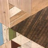 Struttura di legno geometrica strutturata Grungy fotografia stock