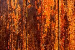Struttura di legno giallo arancione Fotografia Stock