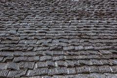 Struttura di legno grigia del tetto immagine stock