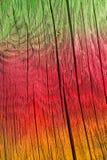Struttura di legno incrinata colorata Immagini Stock Libere da Diritti
