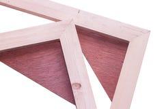 Struttura di legno isolata del telaio Immagine Stock Libera da Diritti