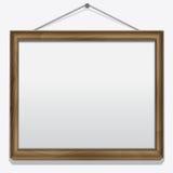 Struttura di legno isolata su bianco Fotografia Stock