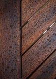 struttura di legno marrone con le gocce Fotografie Stock Libere da Diritti